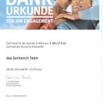 Urkunde Germench von der Deutschen Krebshilfe